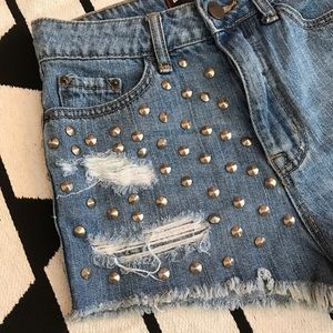 Urban Outfitters BDG Studded Cutoff Jean Shorts